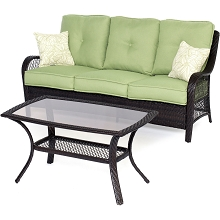 Orleans 2PC Patio Set in Avocado Green - ORLEANS2PC