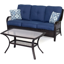 Orleans 2PC Seating Set in Navy Blue - ORLEANS2PC-B-NVY