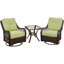 Orleans 3PC Chat Set In Avocado Green - ORLEANS3PCSW