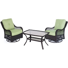 Orleans 3PC Patio Chat Set in Avocado Green - ORLEANS3PCSWCT-B-GRN