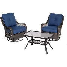 Orleans 3PC Patio Chat Set in Navy Blue - ORLEANS3PCSWCT-B-NVY