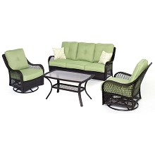 Orleans 4PC Seating Set in Avocado Green - ORLEANS4PCSW