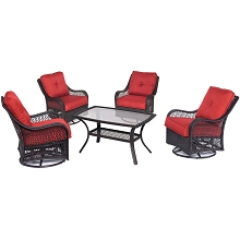 Orleans 5PC Patio Chat Set in Autumn Berry - ORLEANS5PCSWCT-B-BRY