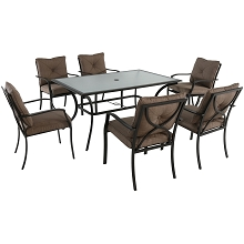 Palm Bay 7PC Dining Set - PALMBAYDN7PC-TAN