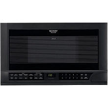 Sharp 1.5 Cu. Ft. 1100W Over the Counter Microwave in Black - R1210T