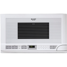 Sharp 1.5 Cu. Ft. 1100W Over the Counter Microwave in White - R1211T