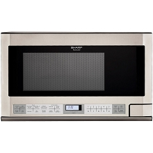Sharp 1.5 Cu. Ft. 1100W Over the Counter Microwave in Stainless Steel - R1214T