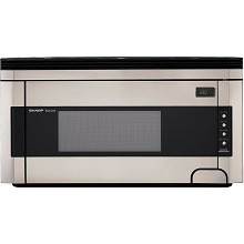 Sharp 1.5 Cu. Ft. 1000W Over-the-Range Microwave Oven with Concealed Control Panel in Stainless Steel - R1514T