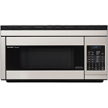 Sharp 1.1 Cu. Ft. 850W Over the Range Convection Microwave in Stainless Steel - R1874T