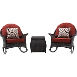 San Marino 3PC Rocking Chat Set in Crimson Red - SMAR-3PC-RED