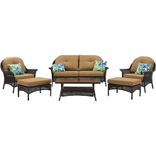 San Marino 6PC Seating Set in Country Cork - SMAR-6PC-TAN