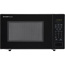 Sharp Carousel 1.1 Cu. Ft. 1000W Countertop Microwave Oven in Black - SMC1131CB