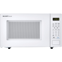 Sharp Carousel 1.1 Cu. Ft. 1000W Countertop Microwave Oven in White - SMC1131CW