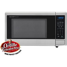 Sharp Carousel 1.1 Cu. Ft. 1000W Countertop Microwave with Orville Redenbacher's Popcorn Preset - SMC1132CS