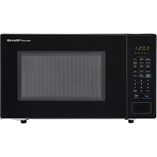 Sharp Carousel 1.4 Cu. Ft. 1000W Countertop Microwave Oven in Black - SMC1441CB