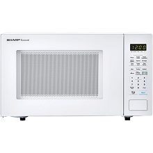 Sharp Carousel 1.4 Cu. Ft. 1000W Countertop Microwave Oven in White - SMC1441CW