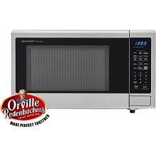 Sharp Carousel 1.4 Cu. Ft. 1000W Countertop Microwave with Orville Redenbacher's Popcorn Preset - SMC1442CS