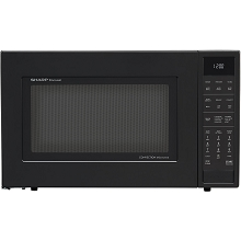 Sharp 1.5 Cu. Ft. 900W Convection Microwave Oven in Black - SMC1585BB