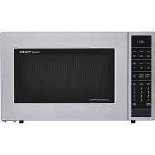 Sharp 1.5 Cu. Ft. 900W Convection Microwave Oven in Stainless Steel - SMC1585BS