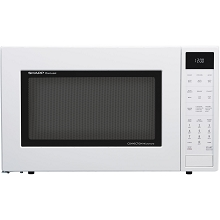Sharp 1.5 Cu. Ft. 900W Convection Microwave Oven in White - SMC1585BW