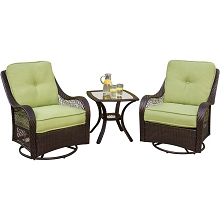 Keystone 3 Pc. Seating Set - Two Swivel Rocking Chairs with a 24