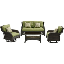 Hanover Strathmere 4-Piece Lounge Set in Cilantro Green - STRATH4PCSW-LS-GRN