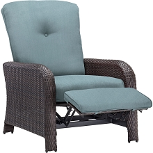 Strathmere Luxury Recliner in Ocean Blue - STRATHRECBLU
