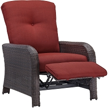 Strathmere Luxury Recliner in Crimson Red - STRATHRECRED