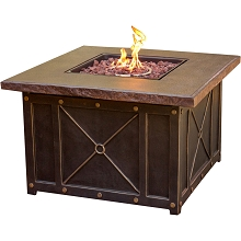 Summer Nights Gas Fire Pit with Durastone Top - SUMMRNGHT1PCFP
