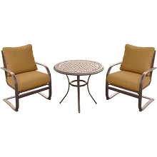 Summer Nights 3PC Dining Set with Two C-Spring Chairs and a 32 In. Cast-top Table - SUMRNGTDN3PCCSTSP