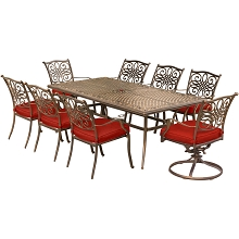 Hanover Traditions 9-Piece Dining Set in Red - TRAD9PCSW2-RED