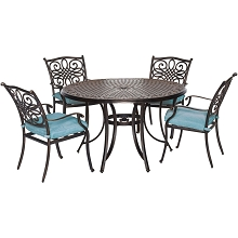 Traditions 5PC Dining Set in Blue - TRADDN5PC-BLU