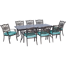 Traditions 9PC Dining Set in Blue - TRADDN9PC-BLU