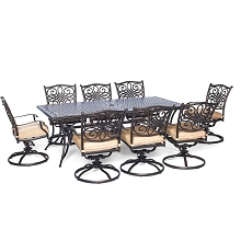 Traditions 9PC Dinning Set with Swivel Chairs - TRADDN9PCSW-8