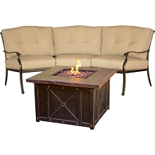 Traditions 2PC Durastone Fire Pit Set - TRADDURA2PCFP