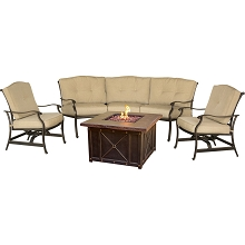 Traditions 4PC Durastone Fire Pit Set - TRADDURA4PCFP