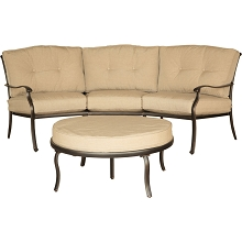 Traditions 2PC Seating Set with Crescent Sofa and Ottoman - TRADITIONS2PC