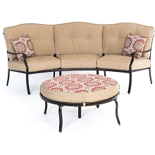 Traditions 2PC Patio Set with Reversible Ottoman and Accent Pillows - TRADITIONS2PC-BRY