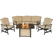 Traditions 4PC Chat Set with a Cast-Top Fire Pit - TRADITIONS4PCFP