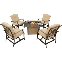 Traditions 5PC Chat Set with a Cast-Top Fire Pit - TRADITIONS5PCFP