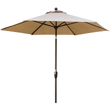 Traditions 9-Ft. Coordinating Table Umbrella, Bronze/Tan - TRADITIONSUMB