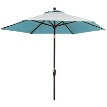 Hanover Traditions 11 Ft. Table Umbrella in Blue - TRADUMB-11-B
