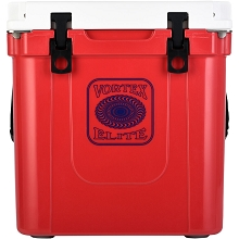 Vortex Elite Series 33-Quart Rotational-Molded Customizable Cooler System in Red, VE33RED