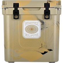 Vortex Elite Series 33-Quart Rotational-Molded Customizable Cooler System in Tan, VE33TAN