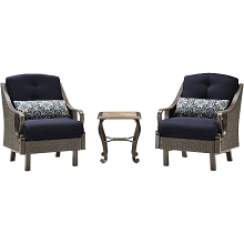 Ventura 3PC Chat Set in Navy Blue - VENTURA3PC-NVY