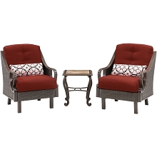 Ventura 3PC Chat Set in Crimson Red - VENTURA3PC-RED