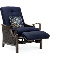 Ventura Luxury Recliner in Navy Blue - VENTURAREC-NVY