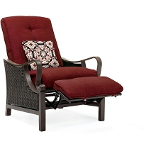 Ventura Luxury Recliner in Crimson Red - VENTURAREC-RED