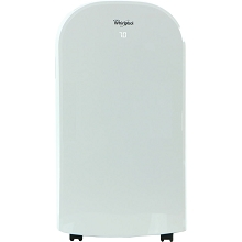 Whirlpool 12,000 BTU Dual-Exhaust Portable Air Conditioner with Remote Control in White - WHAP122AW