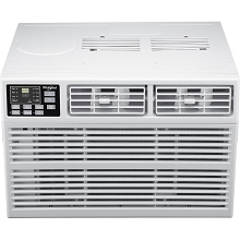 Whirlpool Energy Star 18,000 BTU 230V Window-Mounted Air Conditioner with Heat, WHHW182AW